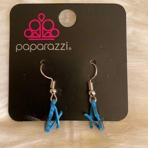Blue Sunglass Earrings